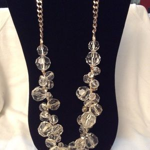 3 Sizes of Clear Stones on Chain Necklace